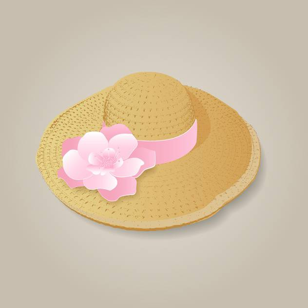 Vector illustration of fashion woman's hat - бесплатный vector #128934