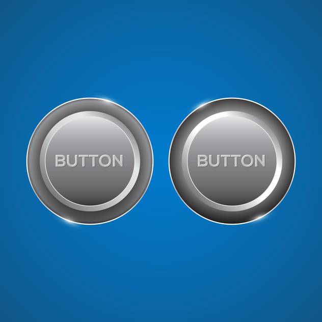 glossy silver buttons set - Free vector #129004