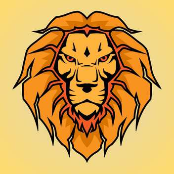 head of lion vector illustration - vector #129024 gratis