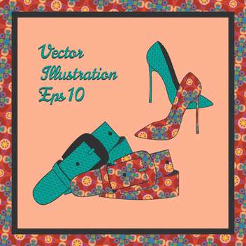 female shoes with fashion belt - vector gratuit #129034