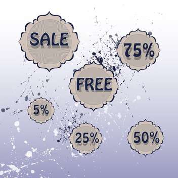 set of vector sale labels - Free vector #129044