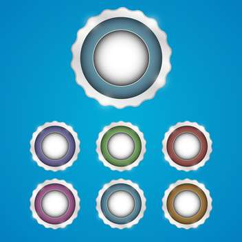 set of web vector buttons - Free vector #129104