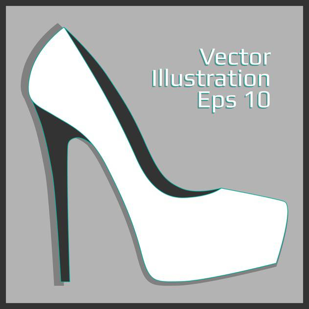 fashion female leather heel - vector #129144 gratis