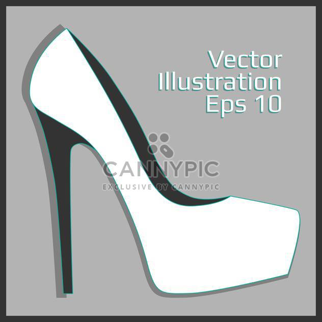 fashion female leather heel - Kostenloses vector #129144