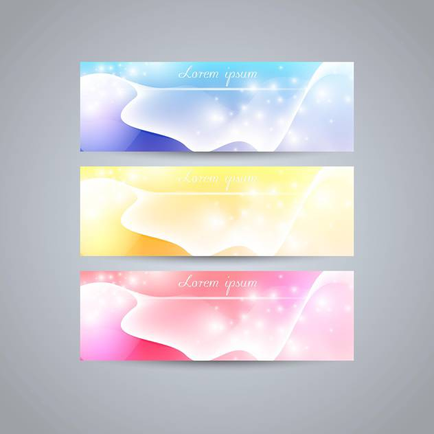 colorful web banners set - vector gratuit #129154