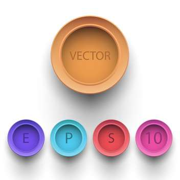Set of colorful 3d buttons on white background - vector #129174 gratis