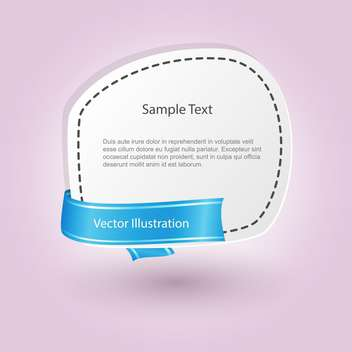 vector blank banner with ribbon - бесплатный vector #129194