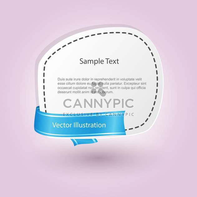 vector blank banner with ribbon - Free vector #129194