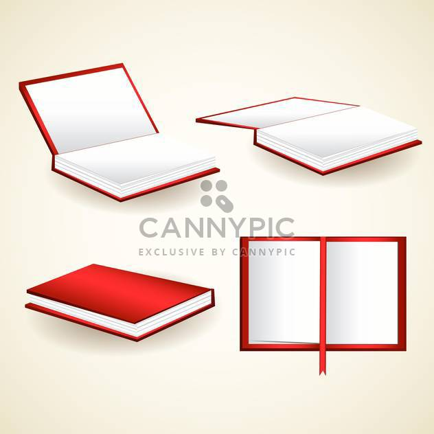 vector set of red books illustration - Free vector #129204