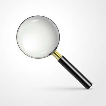realistic vector magnifying glass - vector gratuit #129254