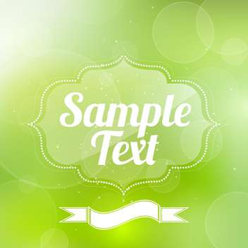 green vector frame background - бесплатный vector #129274