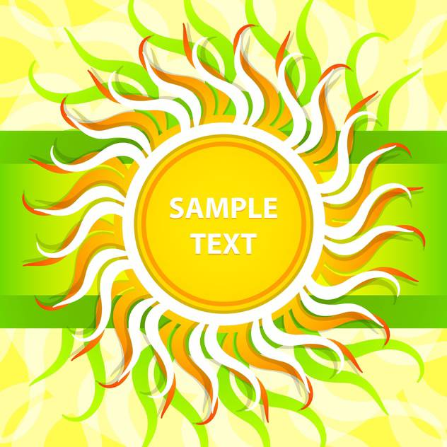 Vector abstract spring background with colorful sun - vector gratuit #129324