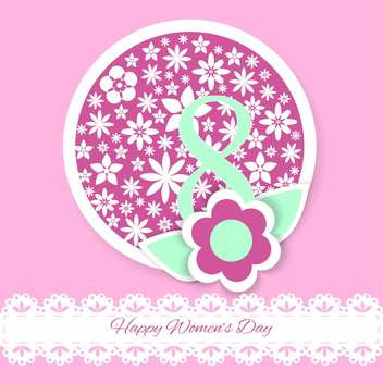 Vector Womens day greeting card with flowers - Free vector #129354