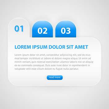 Vector blue banner with numbers - бесплатный vector #129444