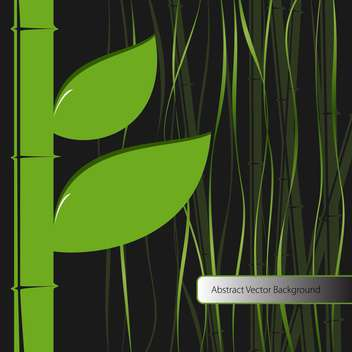 Vector background with green bamboo leaves - vector gratuit #129604