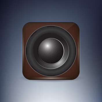 vector illustration of sound loud speaker icon - vector #129684 gratis