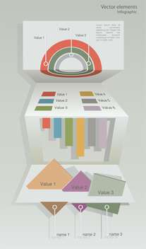 Vector paper origami infographic elements - Kostenloses vector #129724