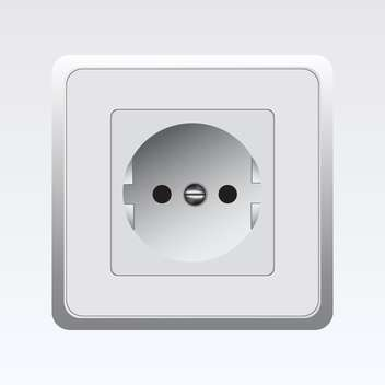 vector illustration of white socket on white background - Free vector #129834