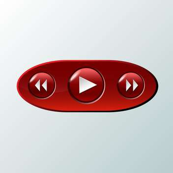 Vector illustration of red media buttons - vector gratuit #129844