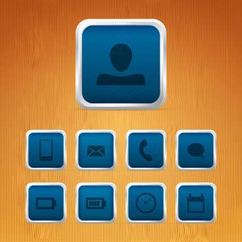 Basic web icons on square buttons - vector gratuit #129934