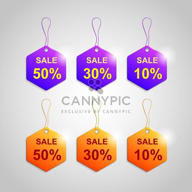 Vector set of color labels for sale - Free vector #129954