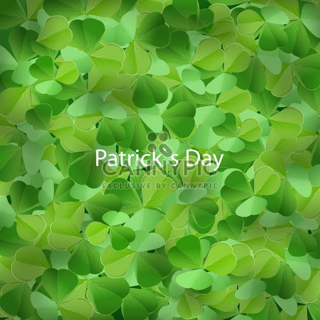 Clover background for St Patricks Day - Free vector #129964