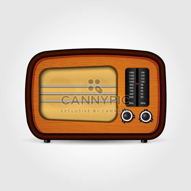 Vector illustration of realistic retro radio isolated - Free vector #130034