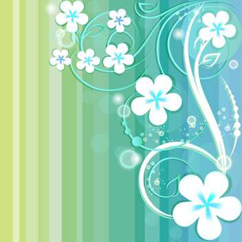 Striped background with floral elements - vector gratuit #130054