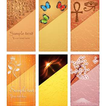 Vector set of natural card for design - Free vector #130114