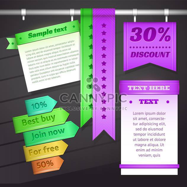 Vector illustration of web discount banners and labels - Free vector #130184