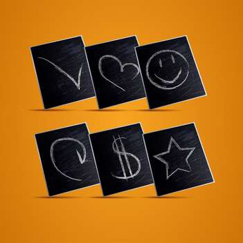 vector illustration of chalkboard icons background - Free vector #130254