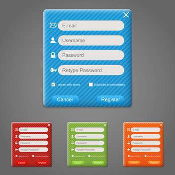 web registration form set - Free vector #130284