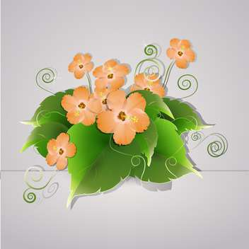 vector summer blooming flowers - бесплатный vector #130314