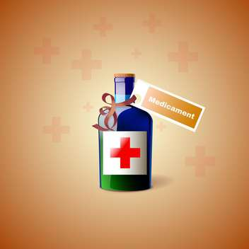 vector medicament bottle with cross - vector gratuit #130334
