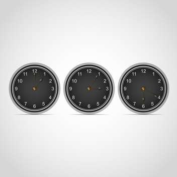 Set with vector clocks isolated on white background - vector gratuit #130404