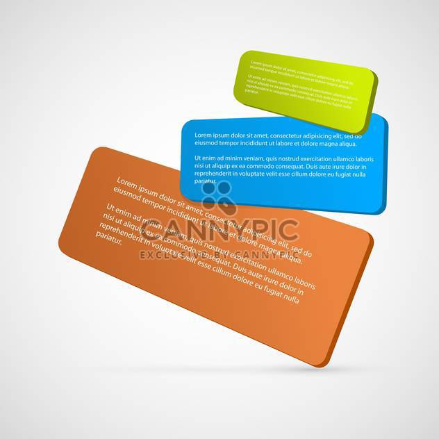 Set with colorful vector banners - Free vector #130414