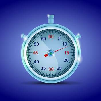 Vector stopwatch on blue background - бесплатный vector #130424