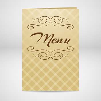 Vector restaurant yellow menu design - vector gratuit #130524
