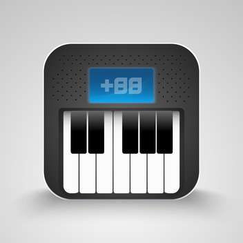 Vector piano keyboard Icon on white background - Free vector #130584