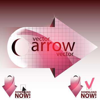 vector illustration of pink shiny arrows - vector #130654 gratis
