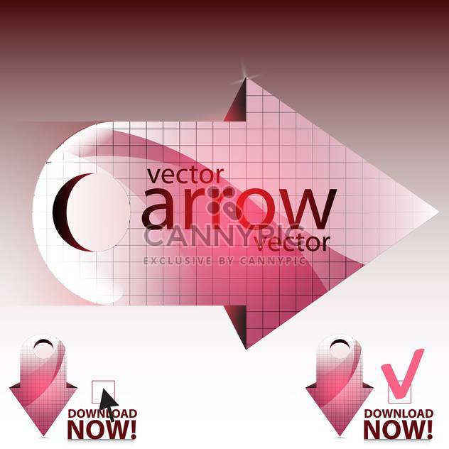 vector illustration of pink shiny arrows - Free vector #130654