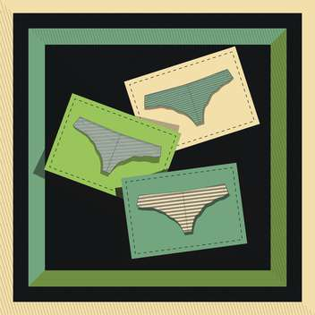 vector illustration of fashion female lingerie cards - vector gratuit #130714