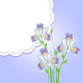 spring flowers with lace frame and text place - vector gratuit #130794