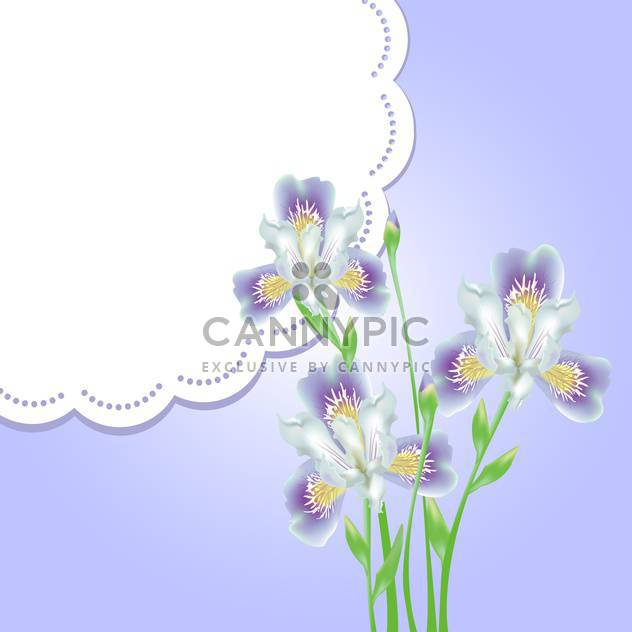 spring flowers with lace frame and text place - Free vector #130794