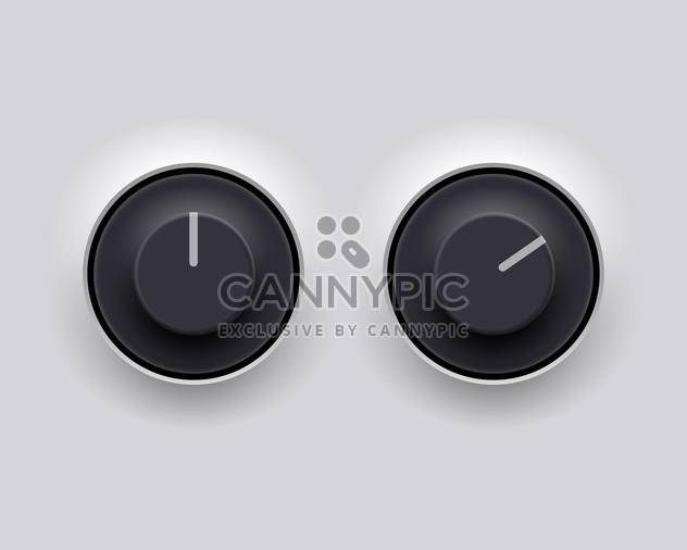 Vector round shaped volume dial on white background - Free vector #130834