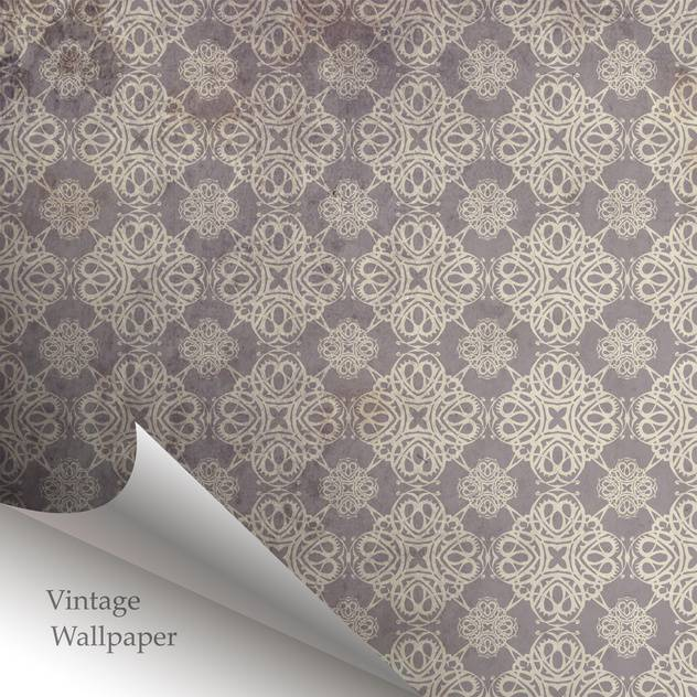 Vector wallpaper design with folded corner - vector gratuit #130854