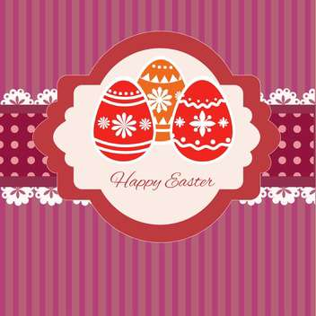 Happy easter greeting card vector illustration - Free vector #130874
