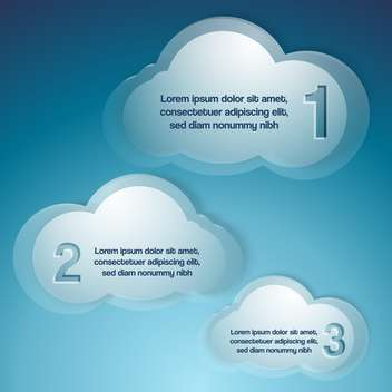 Vector background with text clouds - vector gratuit #130904