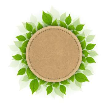 Ball and green leafs isolated on white background vector Illustration - Free vector #130934