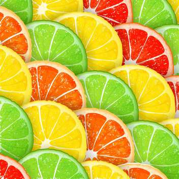 Citrus segments seamless background - vector #130974 gratis